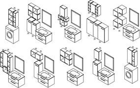 SAPHO - ESPACE skrinka 50x94x32cm, 1x dvierka, ľavá/pravá, dub benátsky (ESP853LP)