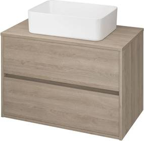 CERSANIT - skrinka pod umývadlo na dosku 80cm, dub , Cersanit Crea, S924-010