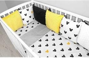 Baby Nellys Vankúšikový mantinel Minky s obliečkami - Mickey, žlutá Baby Nellys 100480