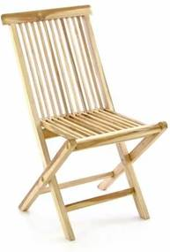 Skladacia stolička Gardenay z teakového dreva