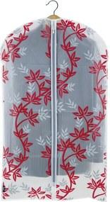 Červeno-biely obal na oblek Domopak Living