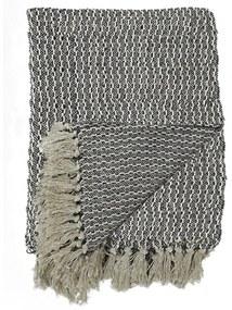 Sivá bavlnená deka House Nordic Cort, 160 x 130 cm