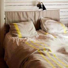 Ľanové obliečky Usva 150x210, ľan-žltá, Rozmery  S vankúšom 50x60 cm Lapuan Kankurit