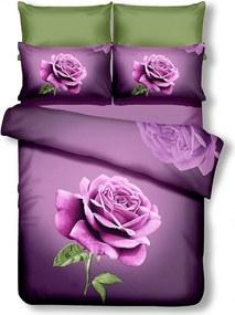 Povlečení z mikrovlákna DecoKing Rose fialové
