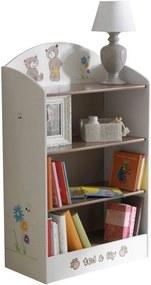 Police na hračky, čokoládová / bílá, PUFF 234548 0000042437 Tempo Kondela