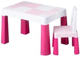TEGA Tega Multifun Detská sada stolček a stolička Multifun pink Ružová |