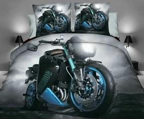 DR Posteľné obliečky 3D motorka č.5 160x200