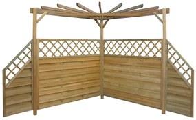 Záhradná pergola, 256x256x225 cm, impregnované borovicové drevo
