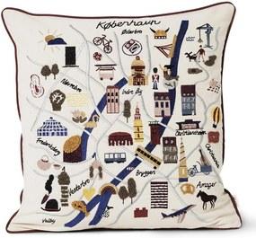 ferm LIVING Bavlnený vankúš Copenhagen Cushion 50 x 50 cm