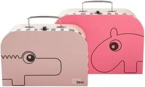 Sada 2 kufríkov Suitcase, ružová