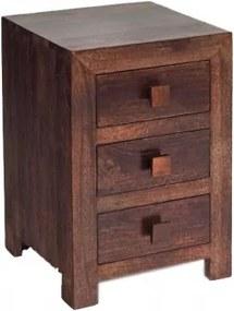 Nočný stolík Kali 45x60x40 indický masív palisander Natural