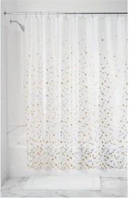 Priehľadný sprchový záves iDesign Confetti, 183 x 183 cm