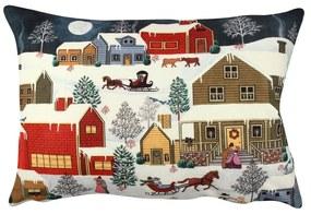 Obojstranný vankúš Snowy Dream, 33 × 48 cm