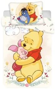 JERRY FABRICS Obliečky do postieľky Macko Pu cute baby Bavlna 100/135, 40/60 cm