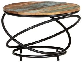 vidaXL Konferenčný stolík 60x60x40 cm masívne recyklované drevo