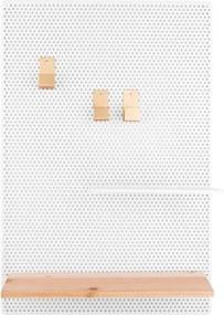Biela kovová nástenka PT LIVING Perky, 34,5 x 52,5 cm