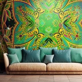 Fototapeta - Mandala: Emerald Fantasy 400x280