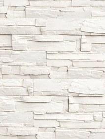 Imitácia kameňa obklad KRX05 Segment 39,5x9,5cm biele
