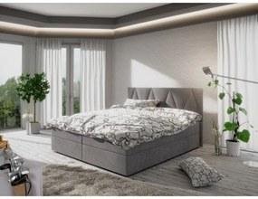 Moderná posteľ s úložným priestorom 160x200 STIG 3 - sivá