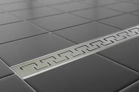 EURO Sprchový podlahový  žľab 90 cm - GREEK M9003