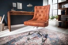 Kancelárska stolička Victorian svetlohnedá