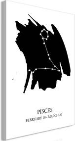 Obraz na plátne Bimago - Zodiac Signs: Pisces (1 Part) Vertical 40x60 cm