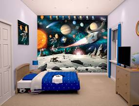 Walltastic 3D Tapeta Space Adventure, Rozmer 244cm x 305cm