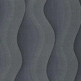 Vliesové tapety, vlnovky strieborno-sivé, Studio Line 242730, P+S International, rozmer 10,05 m x 0,53 m