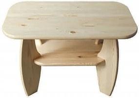 AMI nábytok Konferenční stolek ořech č5 65x65 cm