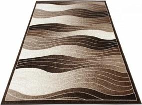Kusový koberec Vlnky hnedý, Velikosti 60x100cm