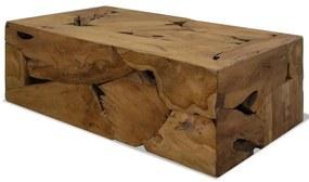vidaXL Konferenčný stolík, 90x50x35 cm, pravé teakové drevo, hnedý