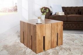 IIG -  Elegantný príručný stolík CASTLE 30 cm divoký dub, prírodný