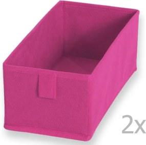 Sada 2 ružových textilných boxov JOCCA, 28 × 13 cm