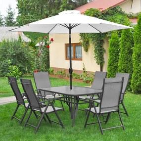 Set záhradného nábytku 8-dielny Avenberg HARMONY