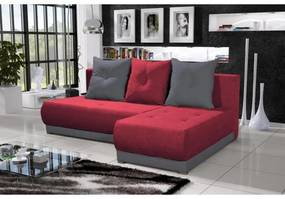 Elegantná sedacia súprava LEONARD, červená + šedá