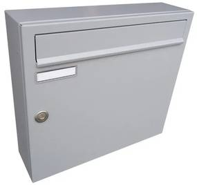schránka poštová (370x330x100mm), max. formát listu: A4, RAL 7040 šedá