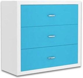 GL Jakub COLOR - detská komoda v modrej farbe
