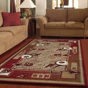 DomTextilu Koberce do obývačky červenej farby 12943-38056