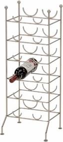 TEMPO KONDELA Viner stojan na víno chrómová
