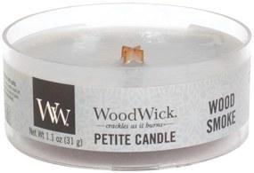 WoodWick vonná sviečka Petite Wood Smoke