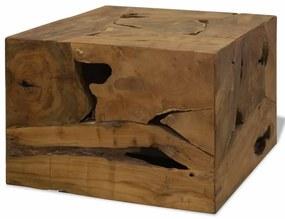 vidaXL Konferenčný stolík, 50x50x35 cm, pravé teakové drevo, hnedý