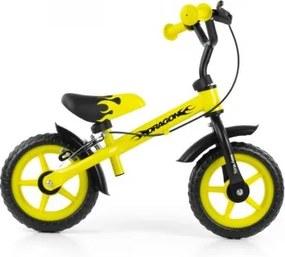 Milly Mally Detské cykloodrážadlo Milly Mally Dragon s brzdou 10 - žlté