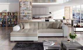 Moderní rohová sedačka Santos, béžová  Roh: Orientace rohu Levý roh