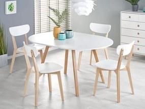 Jedálenský stôl Fjord rozkladací (biela)