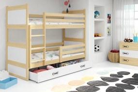 Poschodová posteľ RICO 2 - 160x80 - Borovica - Biely