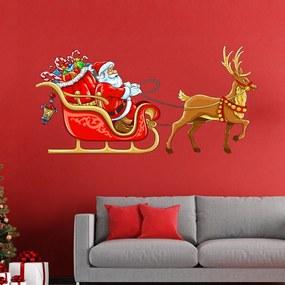 Vianočná samolepka Ambiance Noel Sur Son Traineau