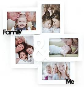 Drevený nástenný fotorámik Tomasucci Family And Me, na fotografie 10 × 15 cm