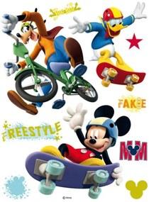 AG Design Maxi nálepka na stenu Mickey Mouse freestyle AGF855 85x65 cm