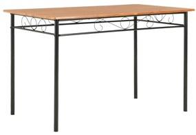 vidaXL Jedálenský stôl hnedý 120 x 70 x 75 cm MDF