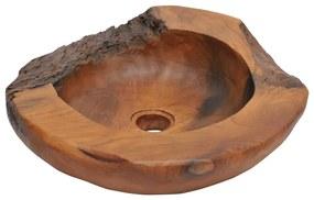 Umývadlo z masívneho teakového dreva, 45 cm